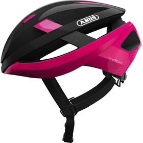 ABUS Viantor Kask rowerowy różowy/czarny